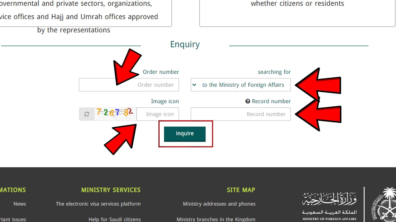 Check online saudi visit visa status