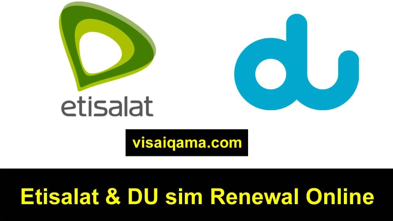 Etisalat Sim Renewal Emirates ID Online