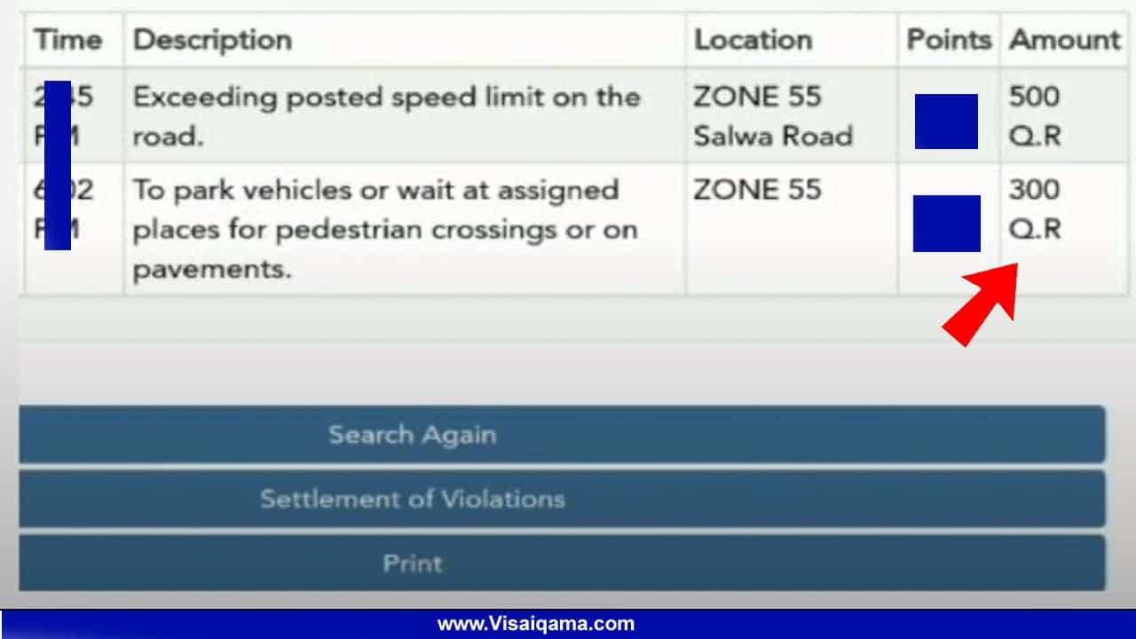 Moi Qatar Traffic Violation