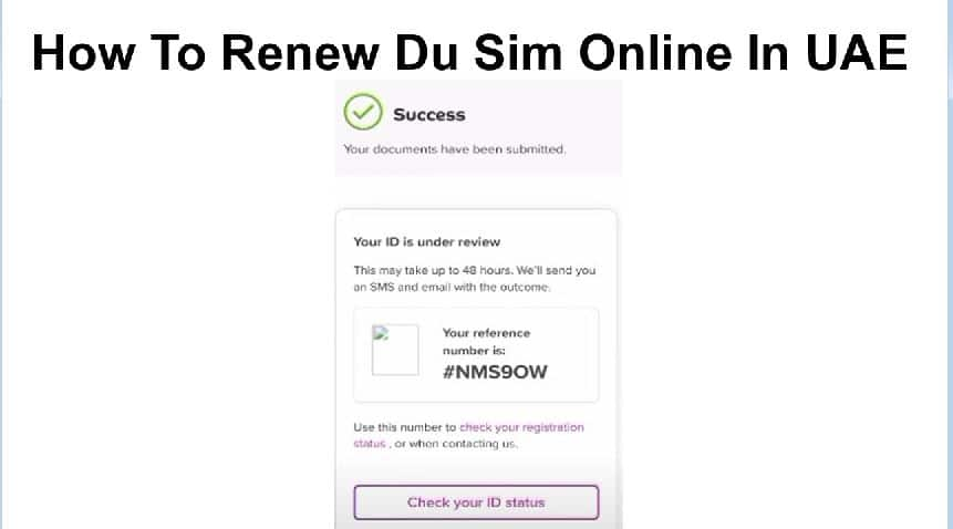 How To Renew Du Sim Online In UAE