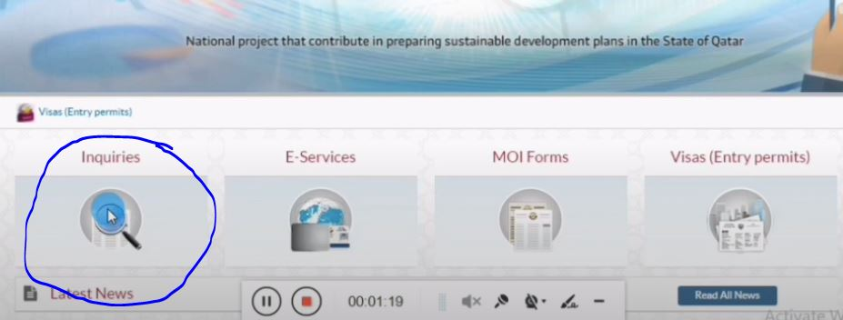 Process For Qatar visa check online and Printing From MOI Website
