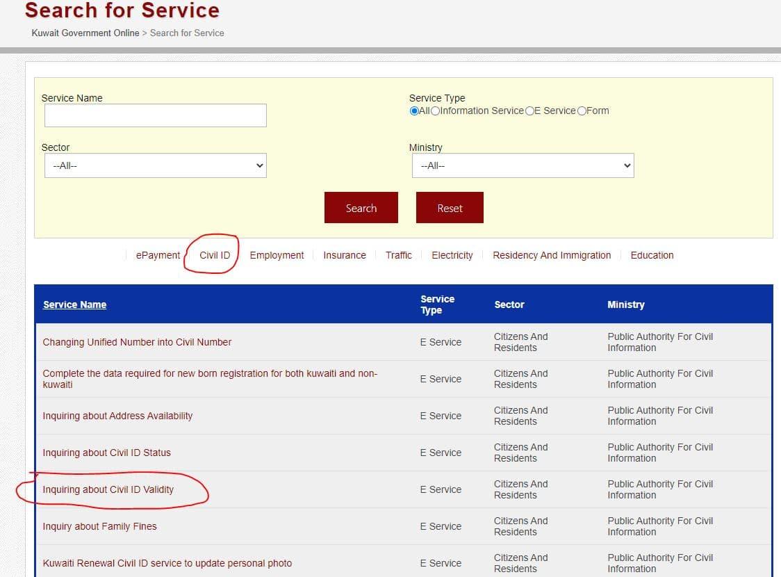 How to Check Kuwait Civil id Validity
