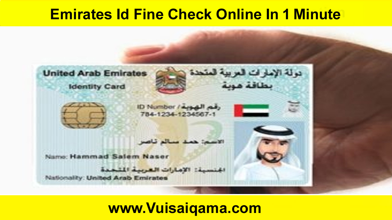 Emirates Id Fine Check Online In 1 Minute