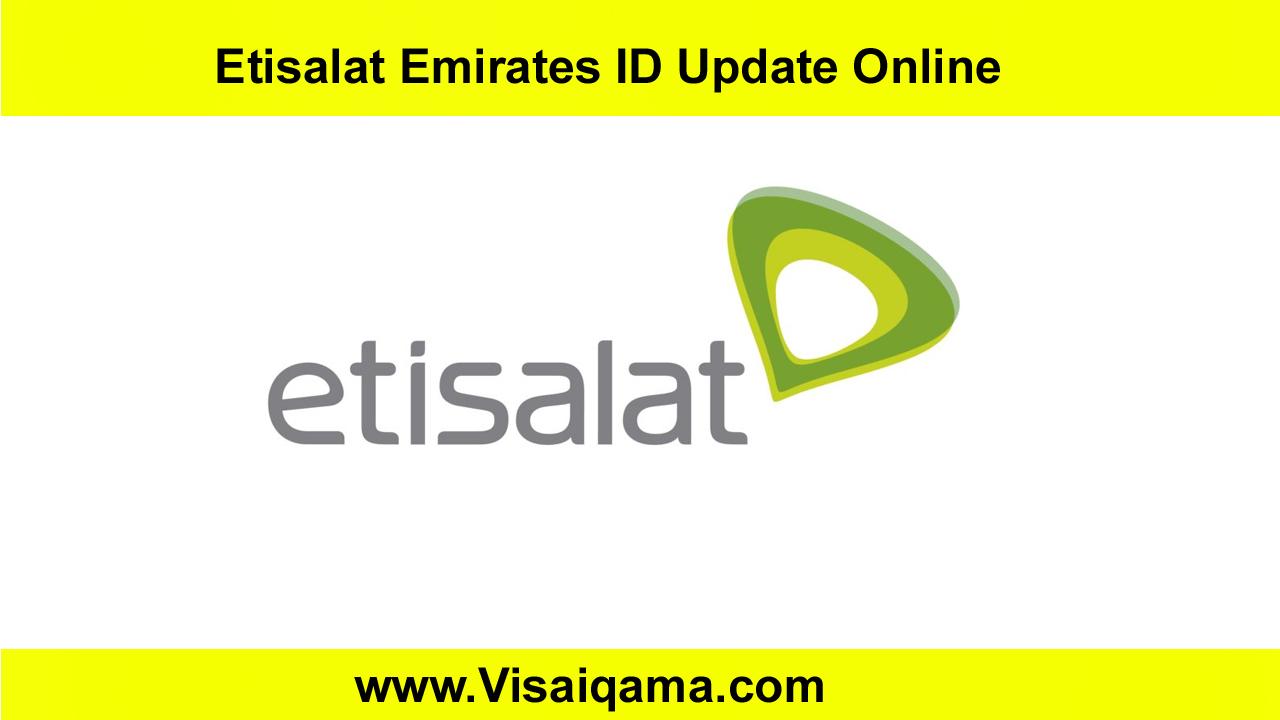 Etisalat Emirates ID Update Online